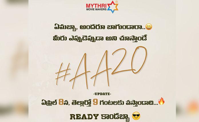 Allu Arjun AA20 Update