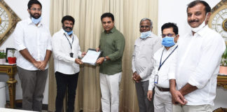 Nandamuri Balakrishna Handed Over A Cheque Of Rs 50 Lakhs To KTR