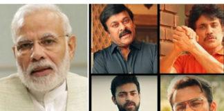 PM Modi Appreciates Tollywood Star Heroes