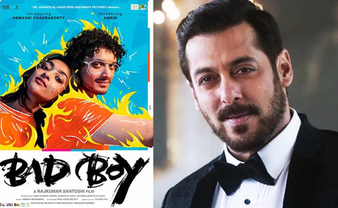 Salman Khan Unveils Mithun Chakrabothy's Son Debut Film Bad Boy movie Poster