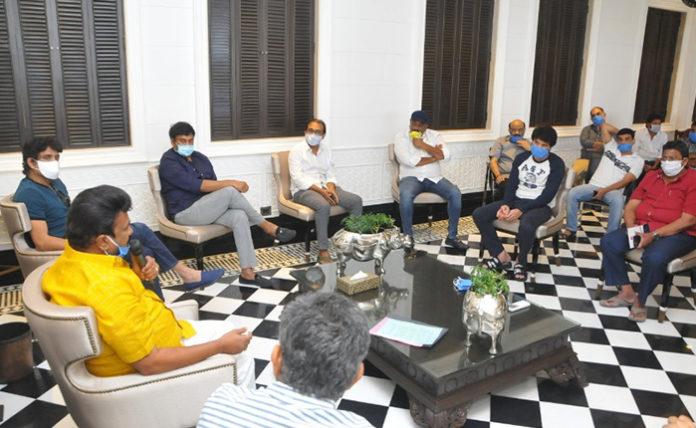 Tollywood Bigwigs Meeting With Minister Talasani Srinivas Yadav