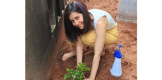 Raashi Khanna Plant sapling